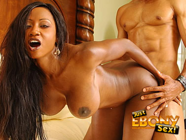 Big Titty Ebony Gets On All Fours